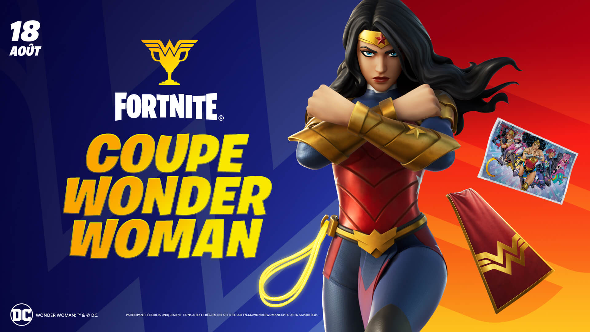 You are currently viewing Wonder Woman arrive à Fortnite ce jeudi